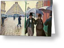 Paris Street In Rainy Weather - Digital Remastered Edition Greeting Card