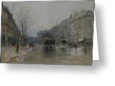 Paris Street Scene  Greeting Card