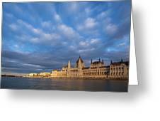 Parliament On The Danube Greeting Card by Davor Zerjav