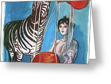 Party Of One Zebra Boy Greeting Card by Rene Capone