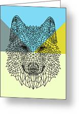 Party Wolf Greeting Card