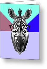 Party Zebra In Glasses Greeting Card