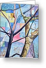Patchwork Trees Greeting Card