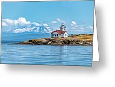 Patos Island Lighthouse  Greeting Card by Rand