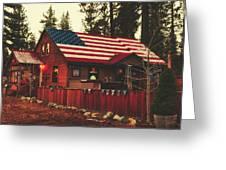 Patriotic Bar And Grill Greeting Card
