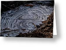 Patterns In Ice Greeting Card