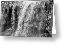 Paulina Falls Black And White Art Greeting Card by David Millenheft