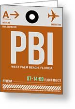 Pbi West Palm Beach Luggage Tag II Greeting Card
