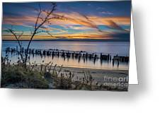 Peaceful Sunset At Sandy Hook Greeting Card