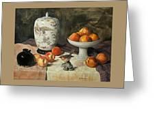 Peach Warbler Greeting Card