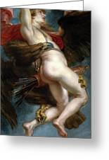 Pedro Pablo Rubens / 'the Rape Of Ganymede', 1636-1637, Flemish School, Oil On Canvas. Greeting Card
