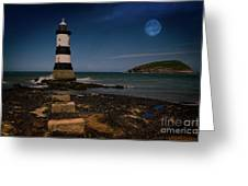 Penmon Lighthouse And Puffin Island Greeting Card