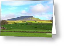 Penyghent In Yorkshire Dales National Park North Yorkshire Greeting Card