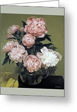 Peonies Front And Center Greeting Card