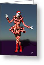 Perched Of Pierrette Greeting Card