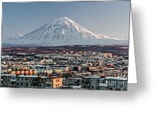 Petropavlovsk-kamchatsky Cityscape And Greeting Card
