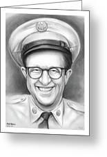 Phil Silvers As Sgt Bilko Greeting Card
