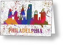 Philly Color Splash Greeting Card