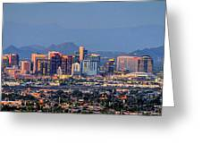 Phoenix Skyline Dusk  Greeting Card by Chance Kafka
