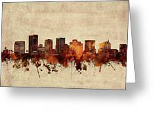 Phoenix Skyline Sepia Greeting Card
