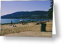 photograph of thid beach which is located in Stanley Park Vancouver. Third beach is a popular location for tourists and locals alike. Greeting Card