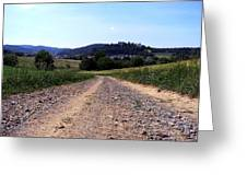 Photography Landscape Shot Of A Path Greeting Card