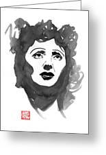 Piaf Greeting Card