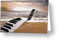 Piano Fantasy Greeting Card