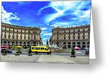 Piazza Della Repubblica Greeting Card