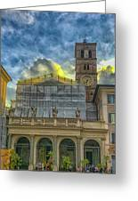 Piazza Di Santa Maria In Trastevere Greeting Card