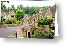 Picturesque Cotswold Village Of Castle Greeting Card