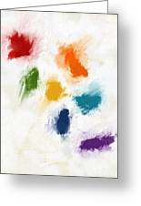 Piece Of The Rainbow- Art By Linda Woods Greeting Card