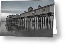 Pier At Dawn In Maine Greeting Card