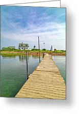 Pier View Goat Island Fantastic Scene Greeting Card