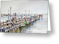 Piers To Be Cold Greeting Card