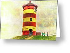Pilsum Lighthouse Leuchtturm  Greeting Card