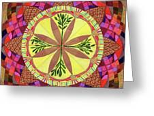 Pine Cone Mandala Greeting Card