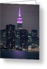Pink Empire State Building Greeting Card