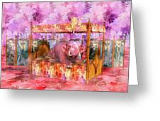Pink Laughing Elephant Greeting Card