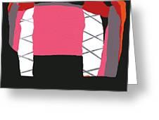 Pink Orange Greeting Card
