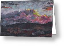 Pink Sky Delight Greeting Card
