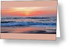 Pink Sunrise Panorama Greeting Card