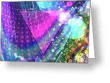 Pink Triangle Fractal Greeting Card