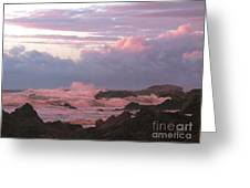Pink Waves Greeting Card