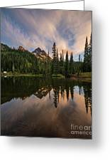 Pinnacle Peak Sunset Reflection Angles Greeting Card