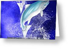 Pisces Greeting Card by Mark Taylor