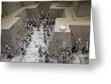 Pit 2 Of Terra Cotta Warriors, Xian, China Greeting Card