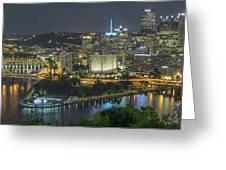 Pittsburgh Lights Greeting Card