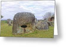 Plain Of Jars Greeting Card