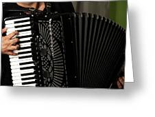 Play The Accordion Greeting Card